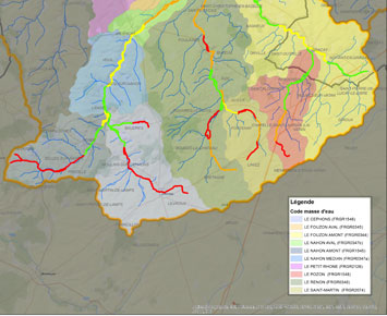 Cartographie de contrat des milieux aquatiques